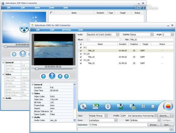 Joboshare DVD to 3GP Bundle Screenshot 3