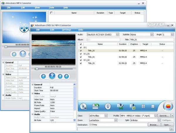 Joboshare DVD to MP4 Bundle Screenshot 3