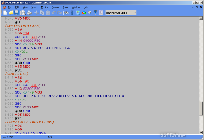 tkCNC Editor Screenshot 3