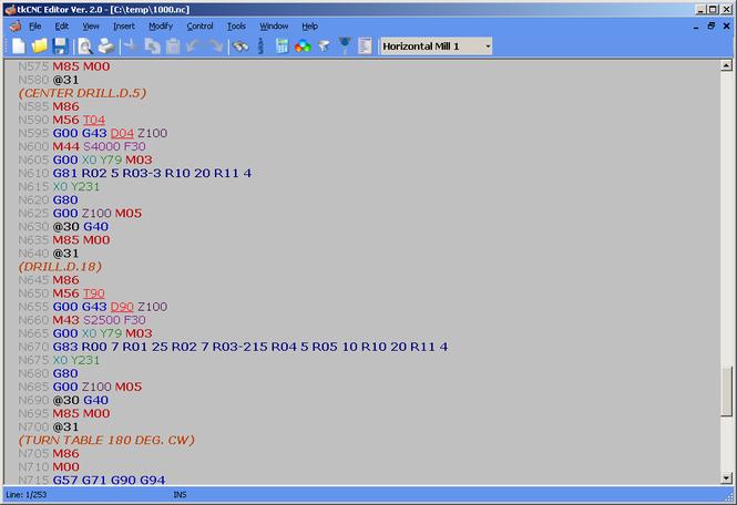 tkCNC Editor Screenshot