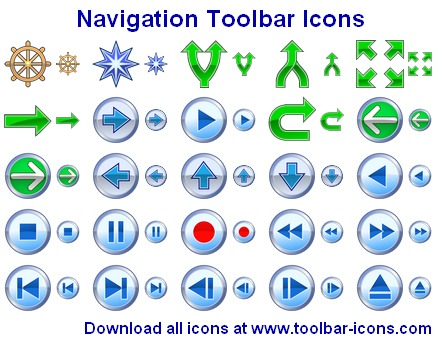 Navigation Toolbar Icons Screenshot 1