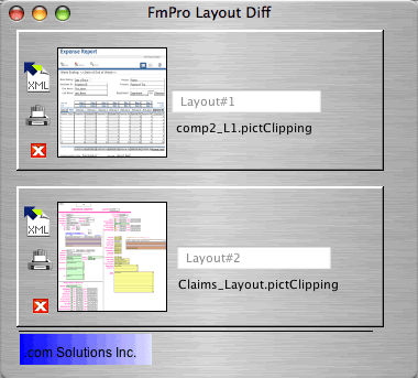 FmPro Layout Diff Screenshot 1