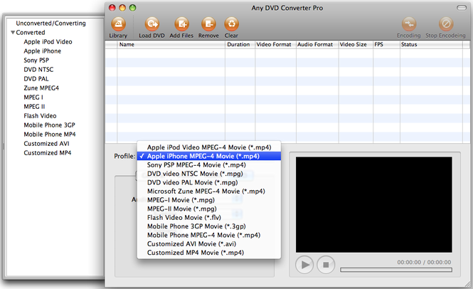 Any DVD Converter for Mac Screenshot 1