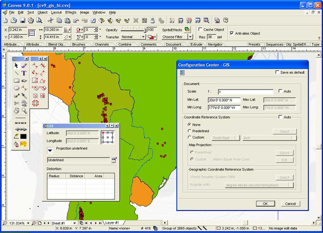 Canvas GIS Mapping Edition (Mac) Screenshot