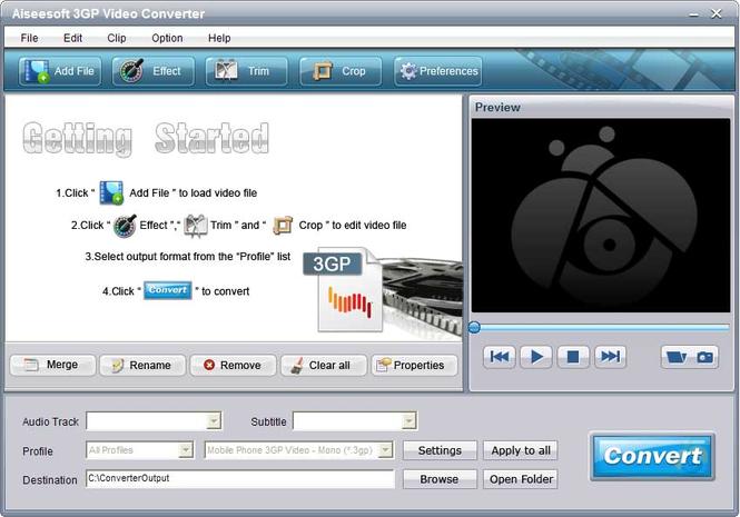 Aiseesoft 3GP Video Converter Screenshot 3