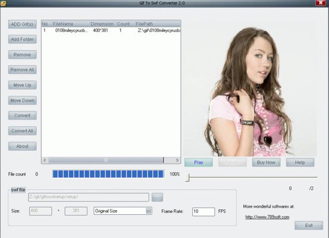 Easy Gif2Swf Screenshot