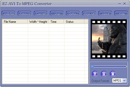 EZ AVI To MPEG Converter Screenshot