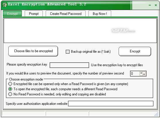 Excel Encryption Advanced Tool Screenshot 2