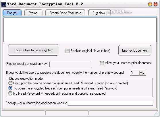 Word Document Encryption Tool Screenshot 2