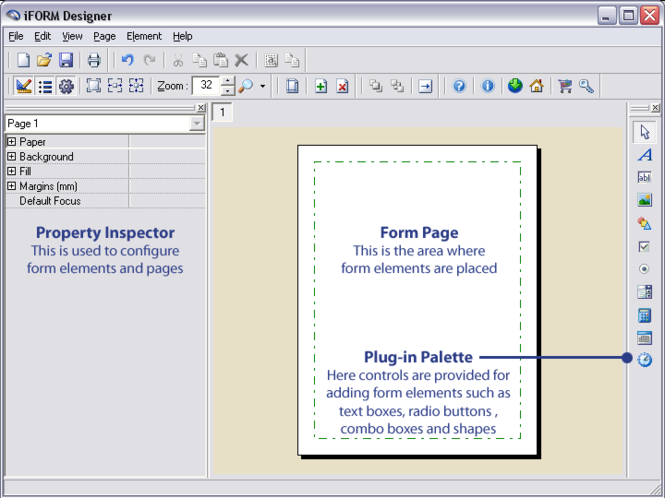 iFORM Designer Screenshot
