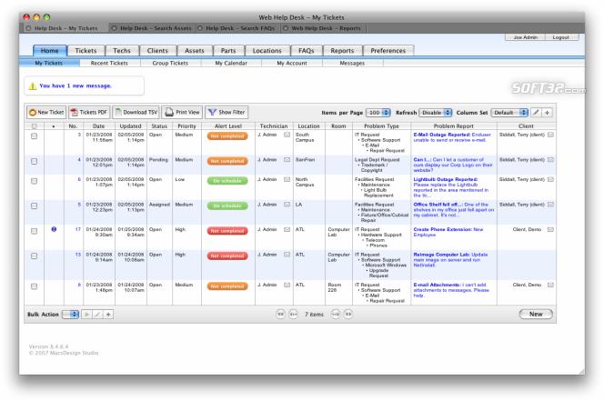 Web Help Desk Software for Mac OS X Screenshot 3