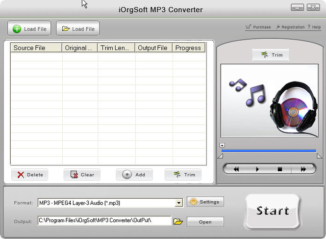 iOrgSoft MP3 Converter Screenshot