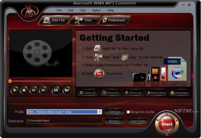 Aiseesoft WMA MP3 Converter Screenshot 3