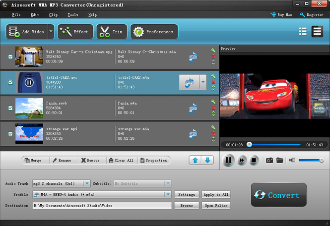 Aiseesoft WMA MP3 Converter Screenshot 1