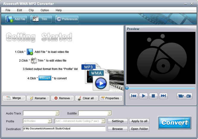 Aiseesoft WMA MP3 Converter Screenshot 2