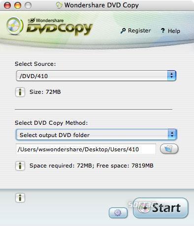 Wondershare DVD Copy for Mac Screenshot 1