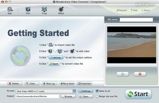 Wondershare DVD to Apple TV Suite for Mac Screenshot