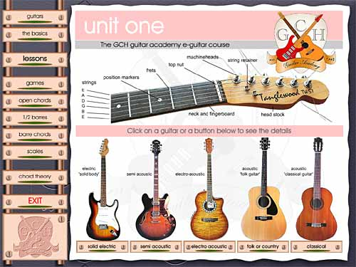 GCH Guitar Academy course (Mac OSX) Screenshot