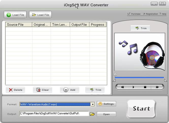 iOrgSoft WAV Converter Screenshot
