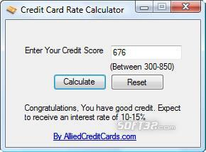 Credit Card Rate Calculator Screenshot 2