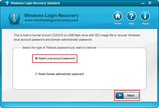 Windows Login Recovery Screenshot