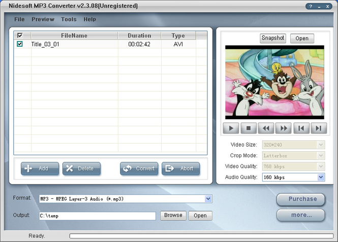 Nidesoft MP3 Converter Screenshot