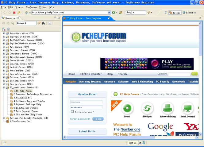 TopForums Explorer Screenshot