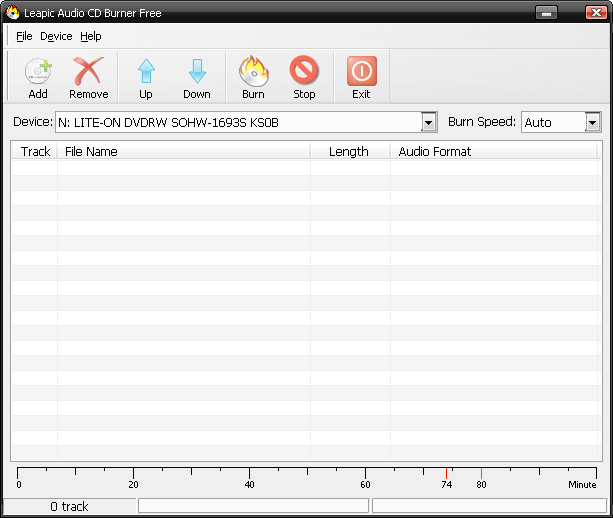 Leapic Audio CD Burner Free Screenshot 1