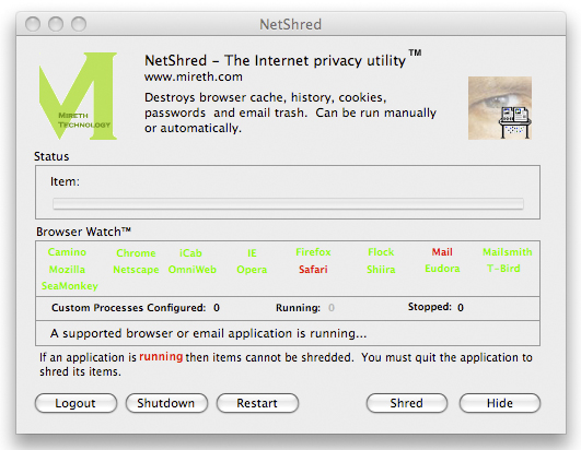 NetShred X Screenshot 1