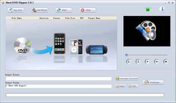 Next DVD Ripper Screenshot 1
