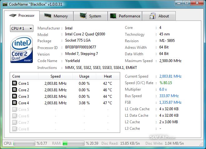 HWM BlackBox Screenshot 2