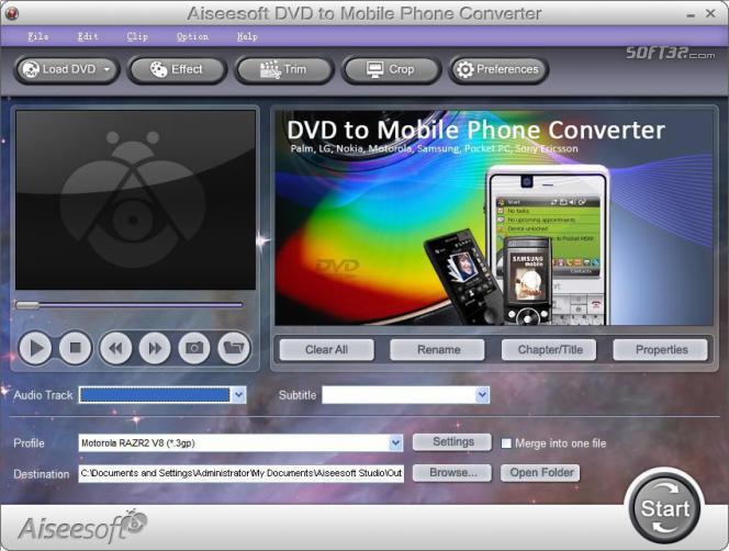 Aiseesoft DVD to Mobile Phone Converter Screenshot 2