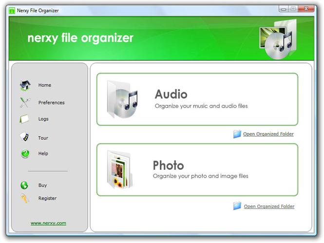 nerxy file organizer Screenshot
