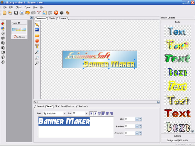 EximiousSoft Banner Maker Screenshot