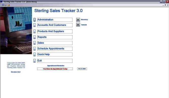 Sterling Sales Tracker Screenshot 1