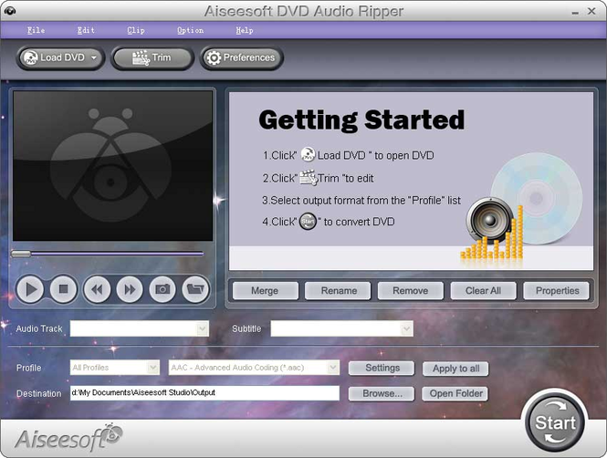Aiseesoft DVD Audio Ripper Screenshot
