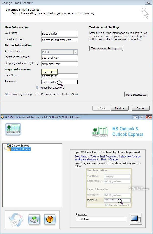 Outlook Email Password Recovery Ex Screenshot 3