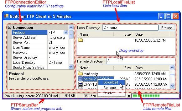 edtFTPnet/PRO Screenshot