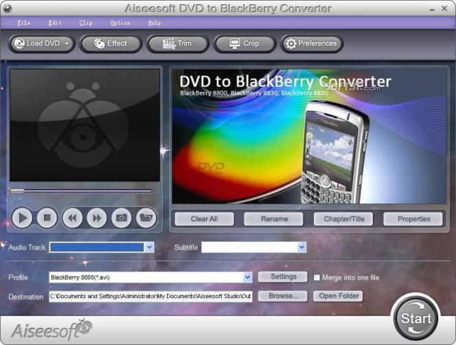 Aiseesoft DVD to BlackBerry Converter Screenshot 2