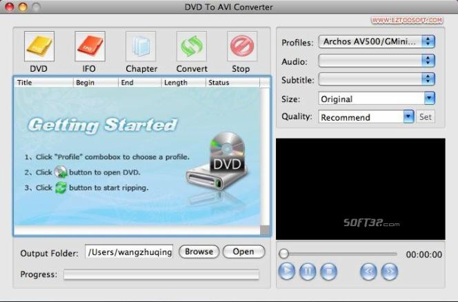 Eztoo DVD To AVI Converter for MAC Screenshot 2