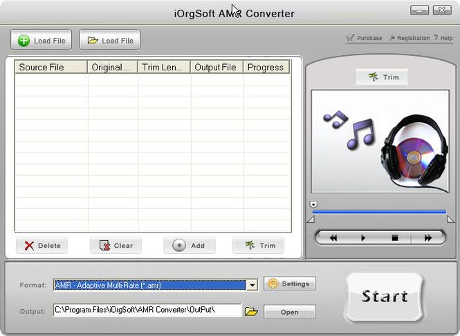 iOrgSoft AMR Converter Screenshot