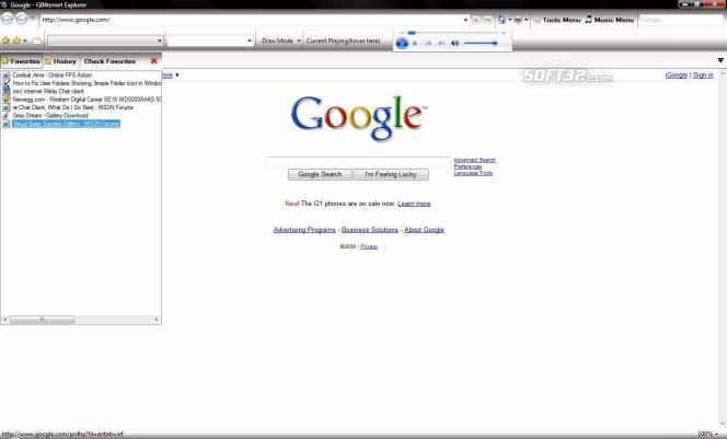 GINternet Explorer Screenshot 2