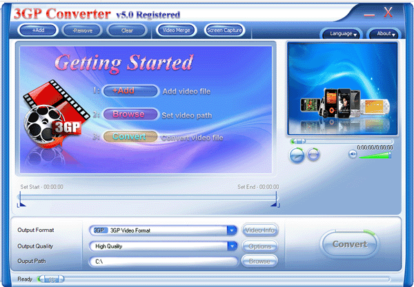 3GP Converter Screenshot 1