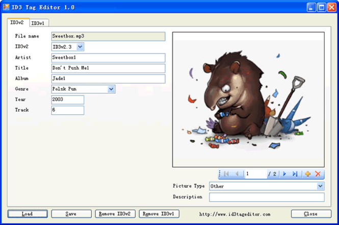 ID3 Tag Editor Screenshot