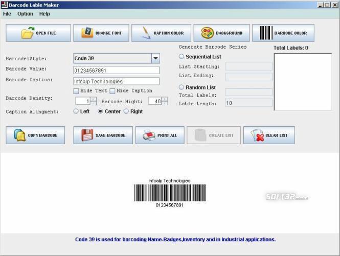 Industrial Barcode Generator Screenshot 2
