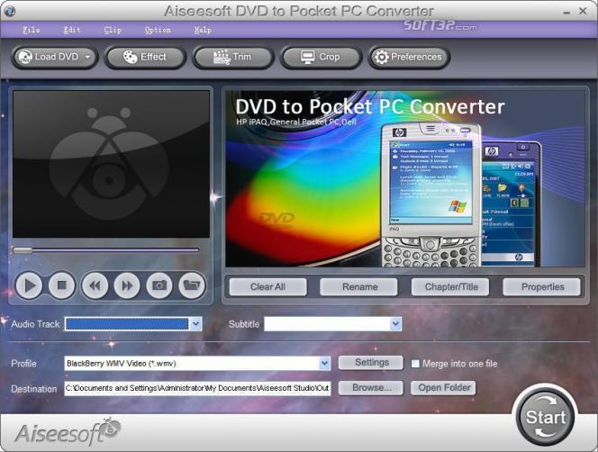 Aiseesoft DVD to Pocket PC Converter Screenshot 2