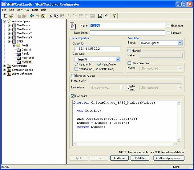 SAEAUT SNMP OPC Server Enhanced Screenshot