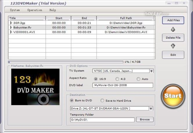 123 DVD Maker Screenshot 2
