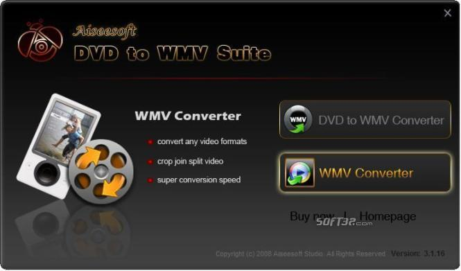 Aiseesoft DVD to WMV Suite Screenshot 2