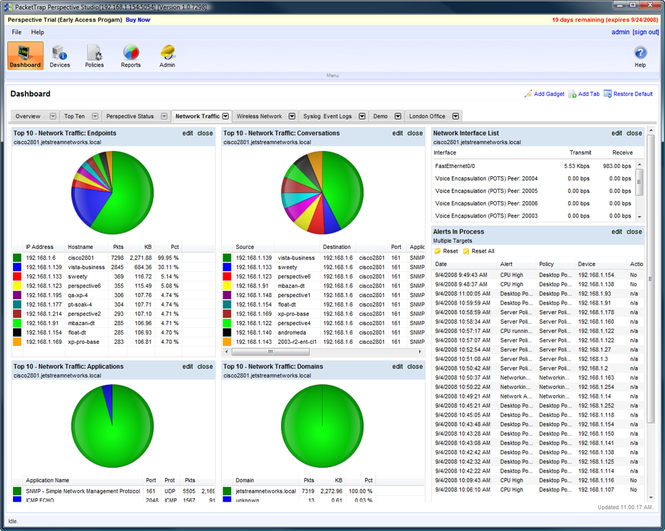 Perspective Network Management System Screenshot